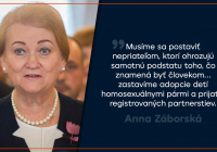 Anticena Homofób roka pre Záborskú
