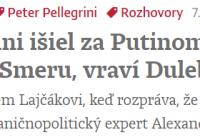 K zahranično-politickej orientácii Slovenska a stav vecí verejných na Slovensku a v Česku…
