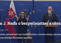 Korčok s Naďom predstavili novú bezpečnostnú stratégiu Slovenska