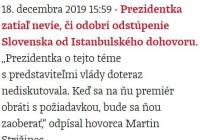 Uznesenie vlády k Istanbulskému dohovoru a prezidentka