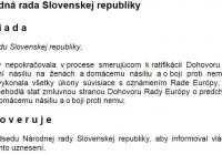 Slovenská vláda a jej minister sú vo veci Istanbulského dohovoru nečinné