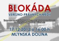Blokáda verejnoprávnych médií?