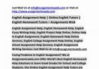 The Insider Secret on English Assignment Help Discovered