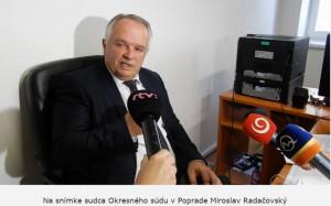 Sudca Miroslav Radačovský